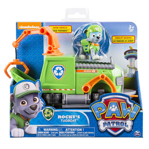 Paw Patrol -  Rock'ys Tugboat - Vehicle and Figure - On Clearance