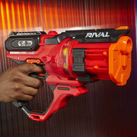 Nerf Rival - Roundhouse XX-1500 Red Blaster - Clear Rotating Chamber + 15 rounds