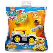 Paw Patrol -  MIGHTY PUPS - RUBBLE Vehicle with removable pups chase LIGHTS & SOUNDS