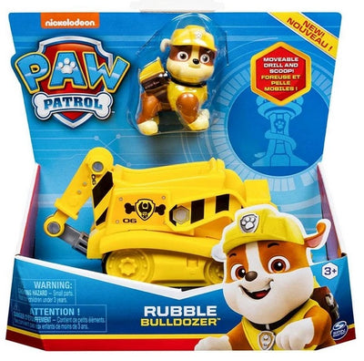 Paw Patrol - Rubble Bulldozer Vehicle with removeable Pup