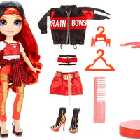 RAINBOW HIGH - Ruby Anderson - Red Fashion Doll with 2 outfits