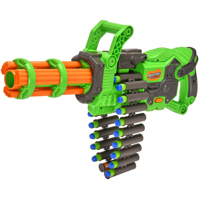 DART ZONE - ADVENTURE FORCE - Scorpion Rotating Barrel Auto Gatling Dart Blaster  - ( nerf rival )