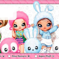 MGA- NA NA NA SURPRISE - SERIES 2 - SET OF 6 DOLLS ( lol surprise )
