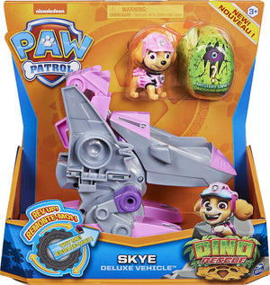 Paw Patrol - Dino Rescue - Skye's Deluxe Rev Up Vehicle with Mystery Dinosar Figure
