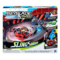 Beyblade Burst Turbo Slingshock Rail Rush Battle Set + Wonder Valtryek V4 & Z Achilles A4