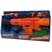 DART ZONE - ADVENTURE FORCE - SPECTRUM RED Motorized Clip-fed Blaster- ( nerf rival )