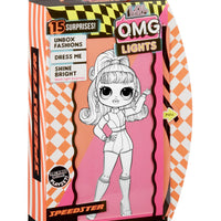 L.O.L LOL Surprise - OMG LIGHTS DAZZLE , SPEEDSTER, GROOVY BABE Fashion Dolls in Carton