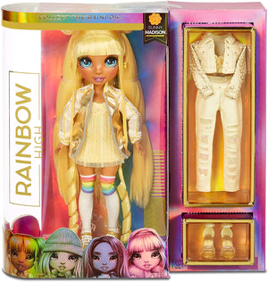RAINBOW HIGH - SUNNY MADISON - YELLOW Fashion Doll with 2 outfits