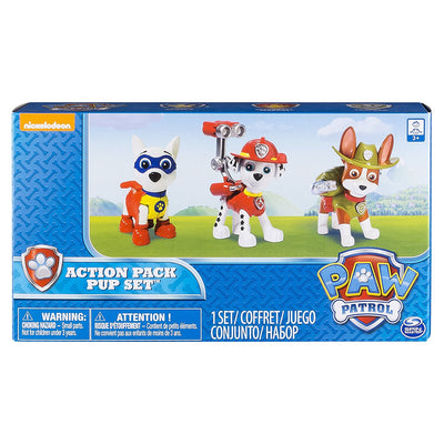 Paw Patrol - Tracker, Apollo & Marshall ACTION PACK TEAM