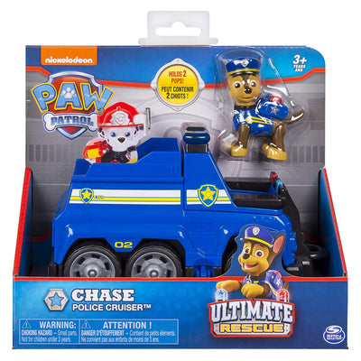 Paw Patrol -  ULTIMATE RESCUE - CHASE's Police Crusier with Lifting Seat & Fold-Out Barricade - on clearance