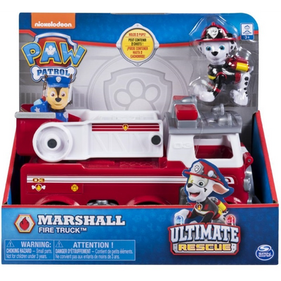 Paw Patrol -  ULTIMATE RESCUE - Marshall's Rescue Fire Truck with Moving Ladder & Flip-open Cab