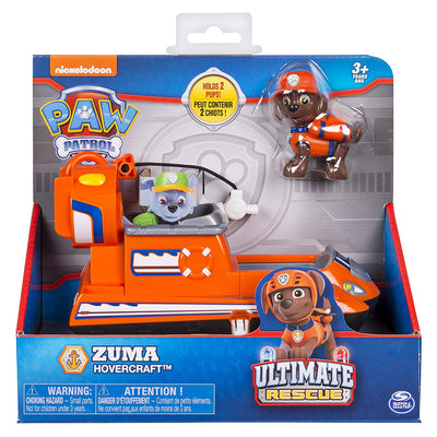 Paw Patrol -  ULTIMATE RESCUE - Zuma's Hovercraft with Moving Propellers & rescue hook