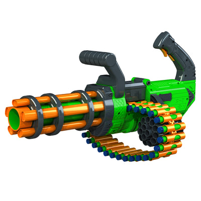 DART ZONE - ADVENTURE FORCE - V-TWIN Motorized Gatling Belt Dart Blaster  - ( nerf rival )