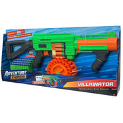 DART ZONE - ADVENTURE FORCE - VILLAINATOR Submachine Pump-Action SuperDrum Dart Blaster  - ( nerf rival )