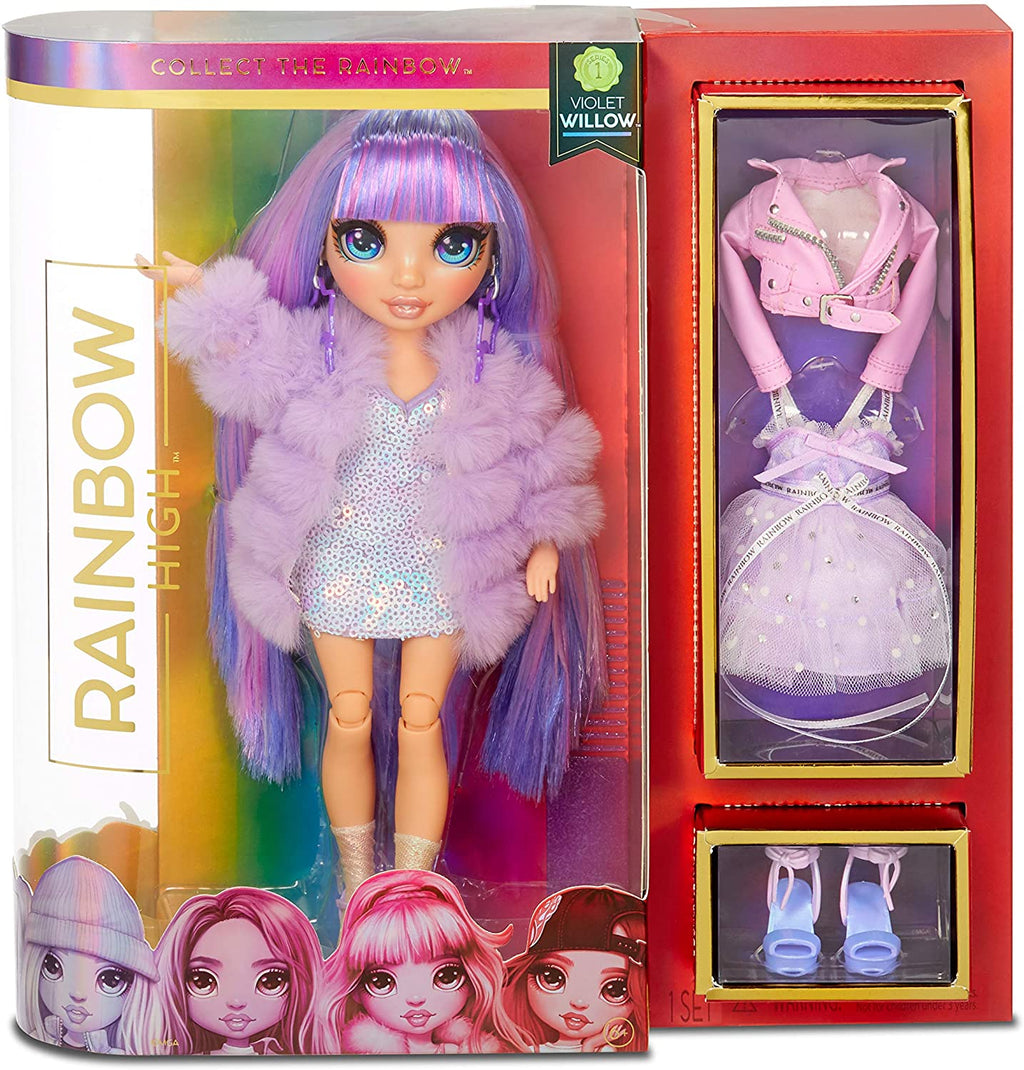 RAINBOW HIGH - VIOLET WILLOW - Purple Fashion Doll with 2 outfits