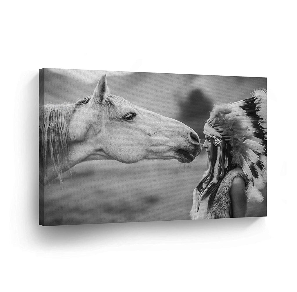 Art Prints White Horse Canvas Wall Art Ready To Hang On The Wall Art