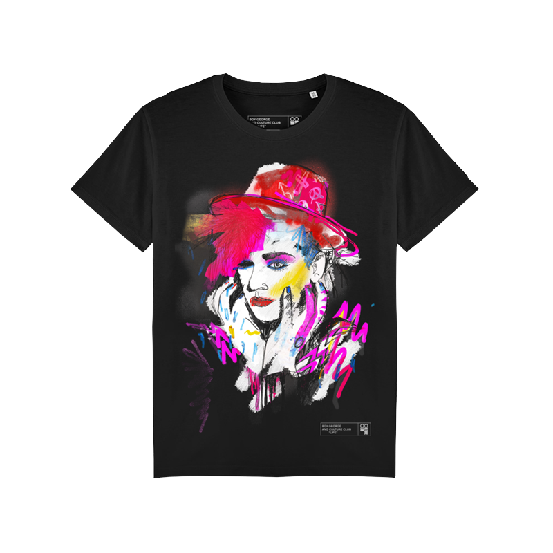 COLORFUL BOY BLACK TEE