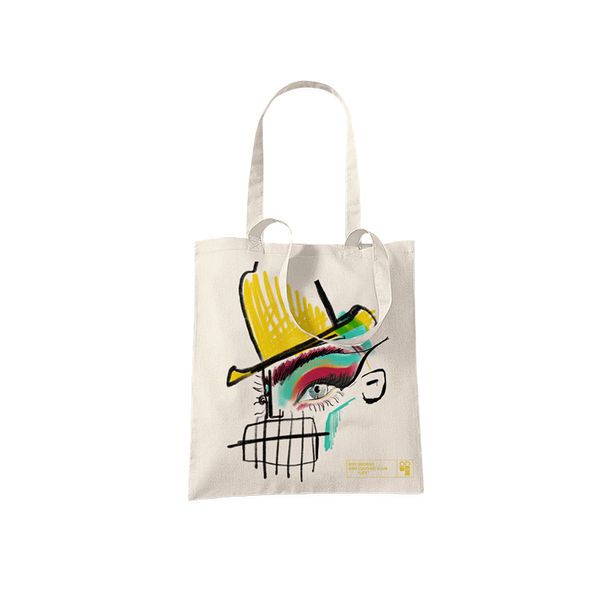 BOWLER HAT SKETCH NATURAL TOTE BAG