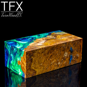 Stabilised Brown Mallee Burl Hybrid Wood Blank