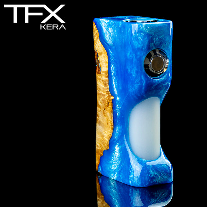 TFX-KERA Squonk Mod (ClickFet) - Stabilised Maple Burl
