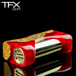 TFX-OHM Vape Mod (ClickFet) - Stabilised Brown Mallee Burl