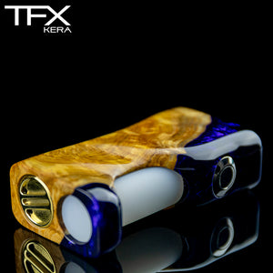 TFX-KERA Squonk Mod (ClickFet) - Stabilised Brown Mallee Burl