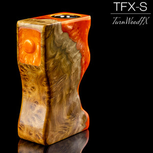 TFX-S Squonk Mod (SwitchFet V2) - Stabilised Brown Mallee Burl