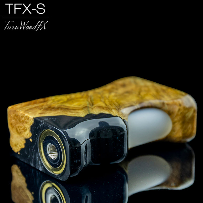 TFX-S V2 Squonk Mod (SwitchFet V2.5) - Stabilised Brown Mallee Burl