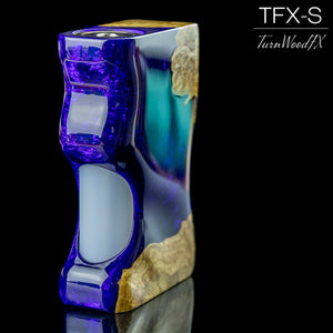 TFX-S V2 Squonk Mod (ClickFet) - Stabilised Brown Mallee Burl