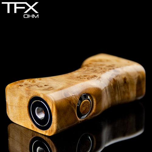 TFX-OHM Vape Mod (ClickFet) - Stabilised Maple Burl