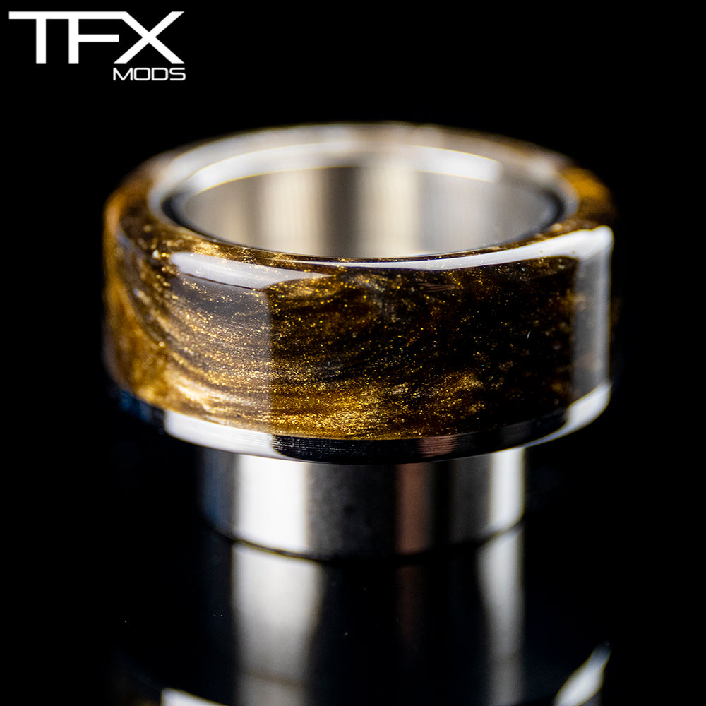 TFX 810 Drip Tip - 304 Stainless Steel - Bronze, Pearl And Gold Resin