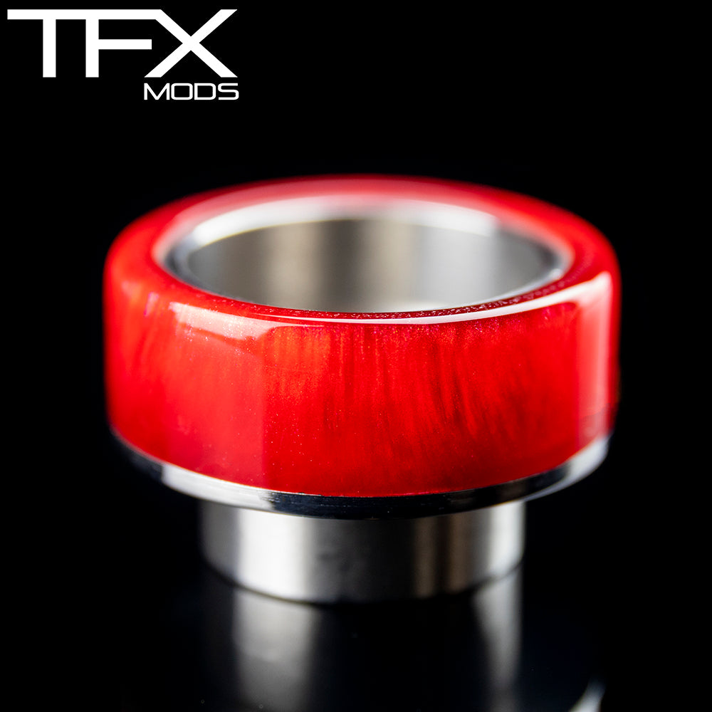 TFX 810 Drip Tip - 304 Stainless Steel - Red And Pearl Resin