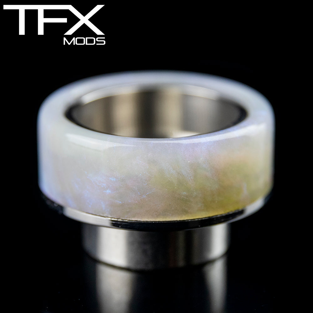 TFX 810 Drip Tip - 304 Stainless Steel - Ghost Pearl Resin
