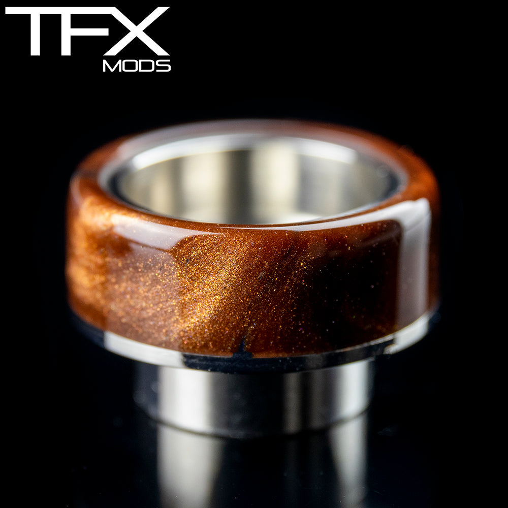 TFX 810 Drip Tip - 304 Stainless Steel - Antique Bronze And Pearl Resin