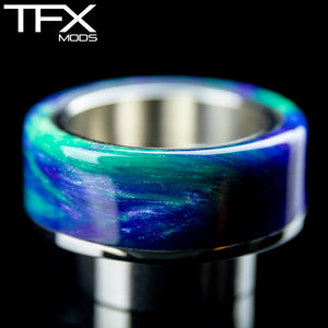 TFX 810 Drip Tip - 304 Stainless Steel - Green, Blue, Purple And Pearl Resin