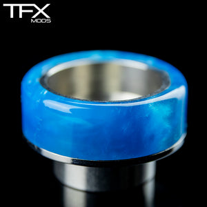 TFX 810 Drip Tip - 304 Stainless Steel - Sky Blue Resin