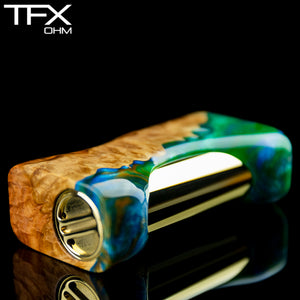 TFX-OHM Vape Mod (ClickFet) - Stabilised Red Mallee Burl