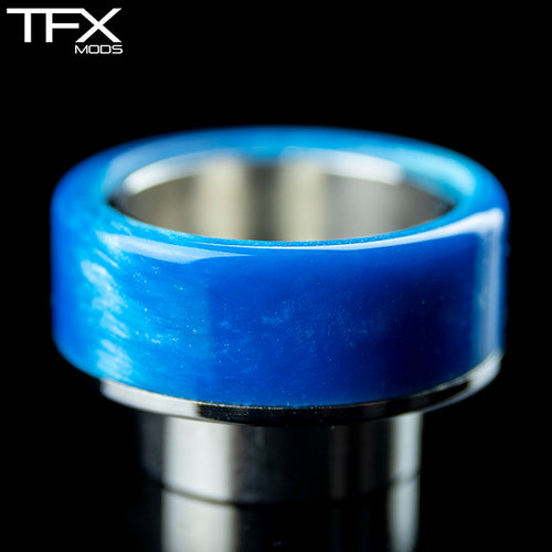 TFX 810 Drip Tip - 304 Stainless Steel - Sky Blue And Pearl Resin
