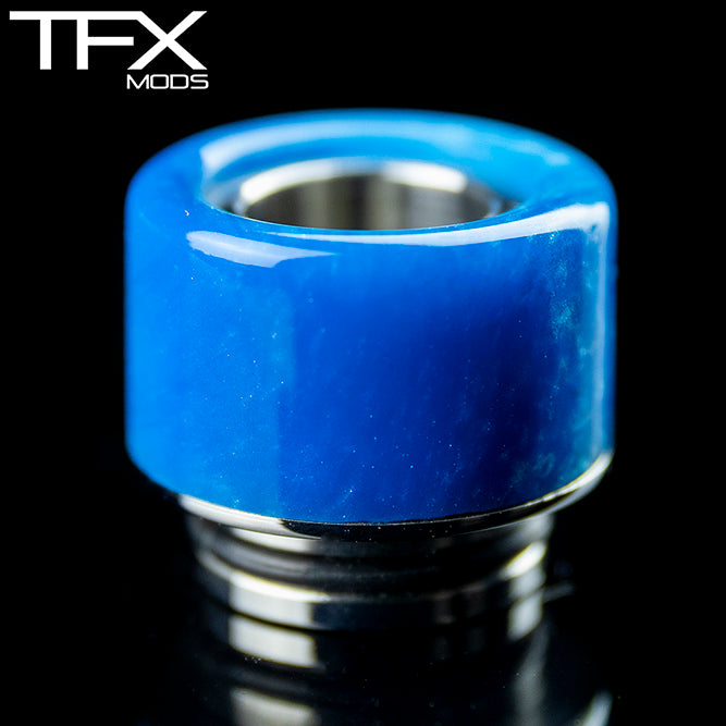 TFX 510 Drip Tip - 304 Stainless Steel - Sky Blue And Pearl Resin