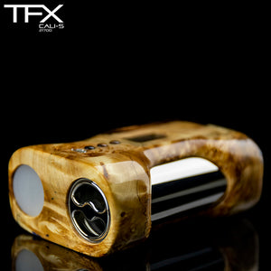 TFX CALI-S Regulated 21700 Squonk Mod (DNA75C) - Spalted Horse Chestnut