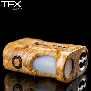 TFX CALI-S Regulated 21700 Squonk Mod (DNA75C) - Maple Burl