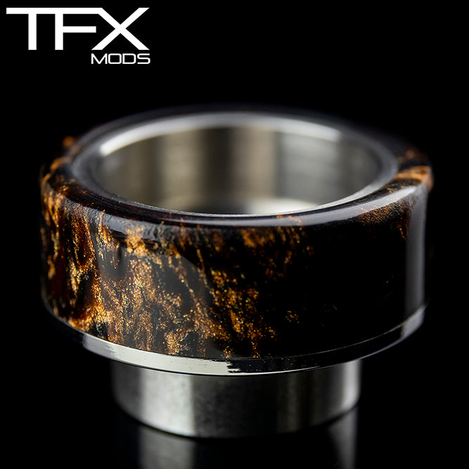 TFX 810 Drip Tip - 304 Stainless Steel - Dark Copper And Pearl Resin