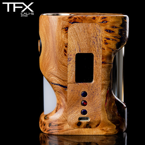 TFX CALI-S Regulated 21700 Squonk Mod (DNA75C) - Stabilised Elm Burr