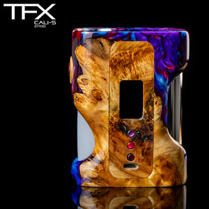 TFX CALI-S Regulated 21700 Squonk Mod (DNA75C) - Stabilised Poplar Burr