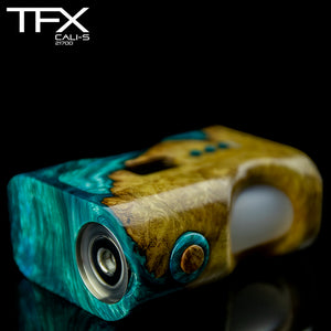 TFX CALI-S Regulated 21700 Squonk Mod (DNA75C) - Stabilised Beech Burr