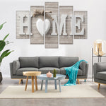 5 Pieces Letter Canvas Painting Love HOME Wall Art Print Pictures for Home Living Room Bedroom Decoration Poster