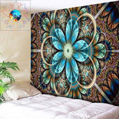 Large Wall Tapestry Mandala Wall Hanging Hippie Psychedelic Chakra Tapestry Yoga Mat Art Carpet Boho Wall Fabric Beach Cloth Rug
