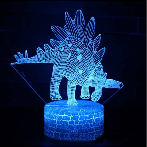 Dinosaur  theme mark 3D Lamp Game LED night light 7 Color Change Touch Mood Lamp Dropship