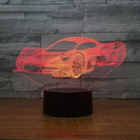 Aris Racing Car Formula 3D Night Light Table Lamp 7 Colors Changing Desk Lamp 3d Lamp Novelty Led Night Lights Led Light