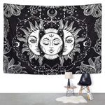 Loartee Psychedelic Sun God Planet Witchcraft Tapestry Astrology Mandala Hippie Bedroom Living Room Backdrop Wandkleed